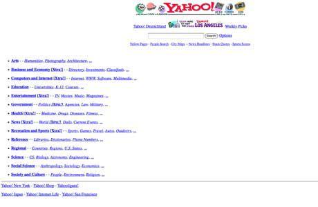 Yahoo First Design