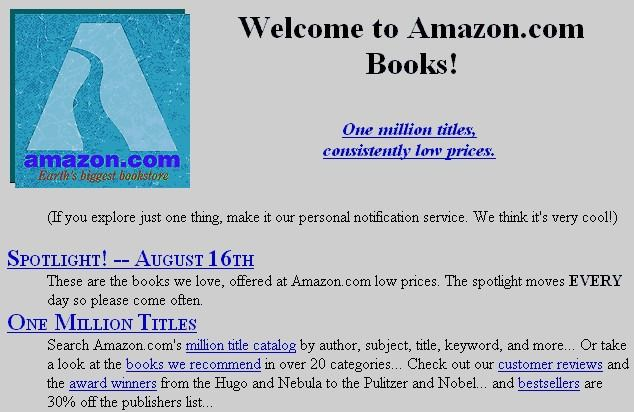 Amazon design at launch