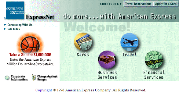 American Express design at launch