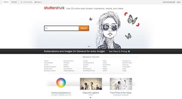 Shutterstock design now