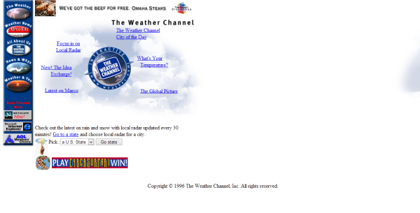 Weather com design at launch