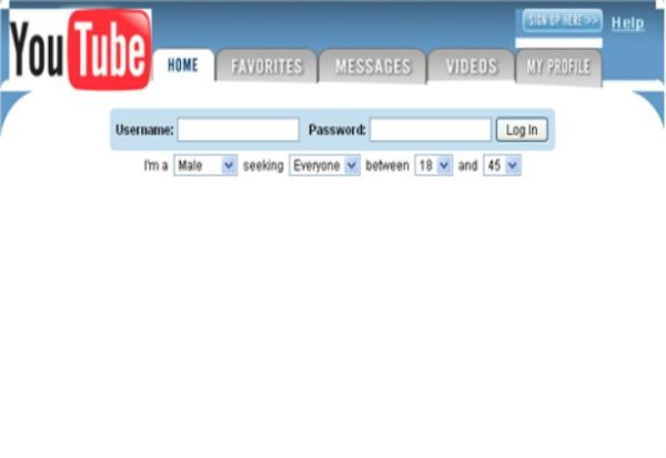 Youtube design at launch