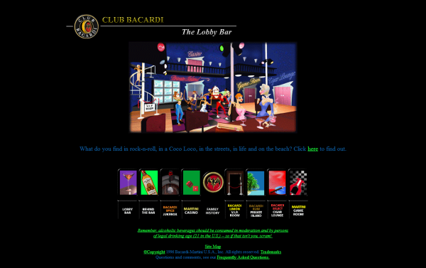 UXPin - funniest designs of the 90s Club Baccardi