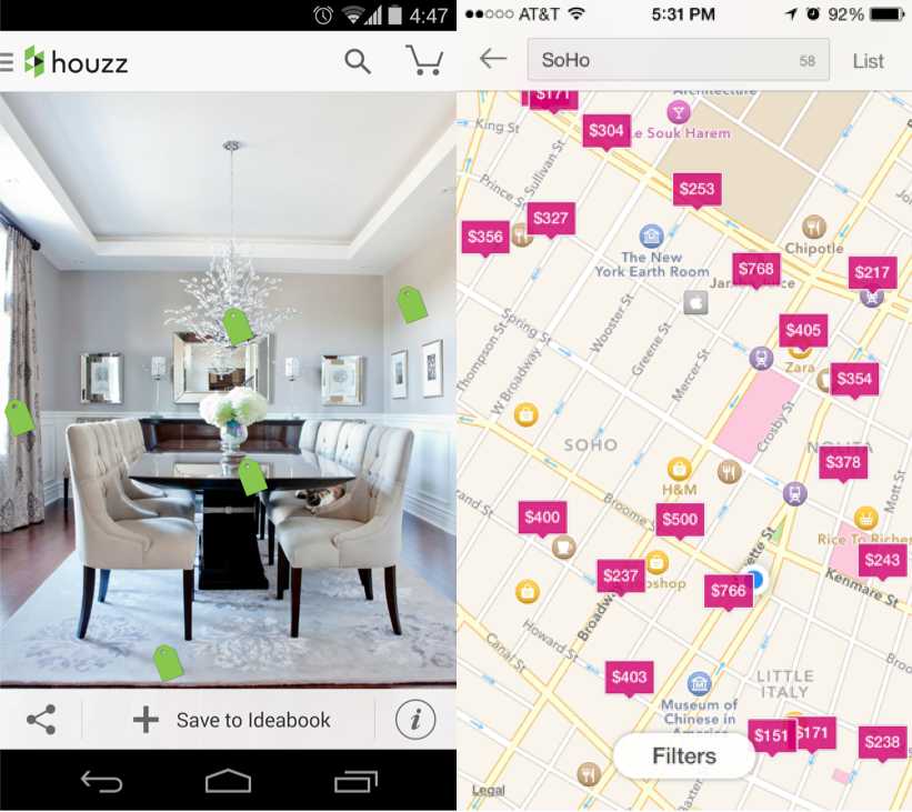 UIPatterns, Interactive Content Layers, Houzz