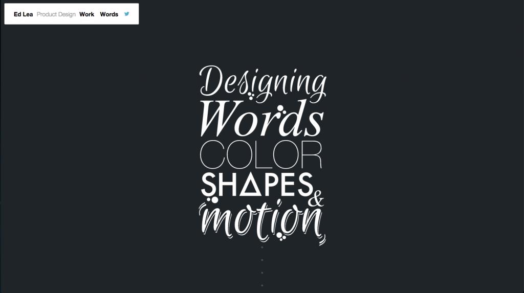 UX designer portfolio example