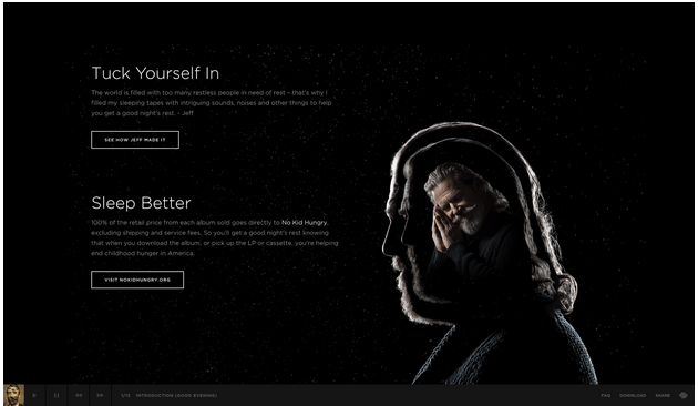 Squarespace website user interface