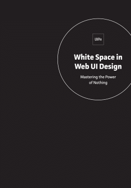 White Space in Web UI Design Mastering the Power of Nothing