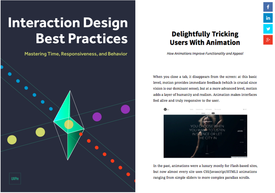 Photo of the e-book Interaction Design Best Practices: Mastering the Intangibles