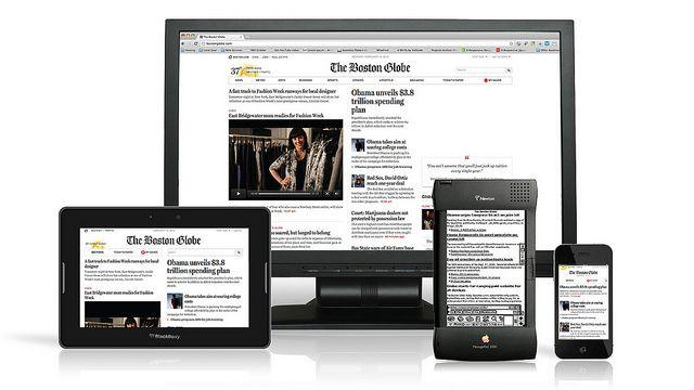 Illustration of responsive web design.