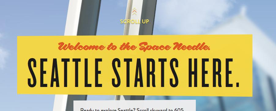 Screenshot of  Seattle's website user interface
