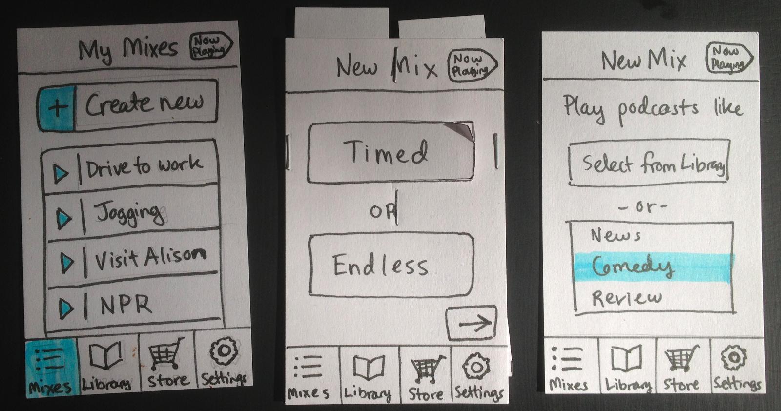 low functional paper prototype