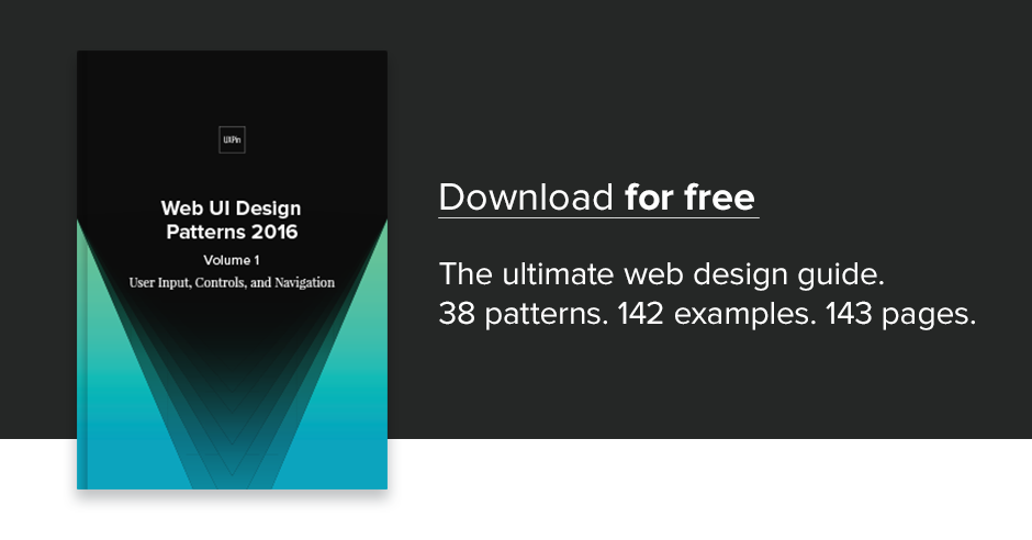 Free E Book Web Ui Design Patterns 2016 Vol 1