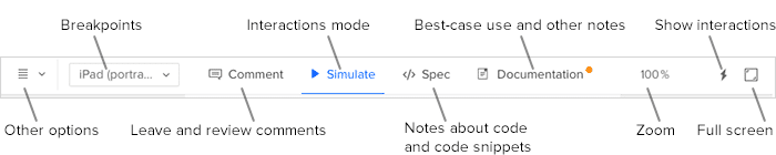 Preview top bar diagram
