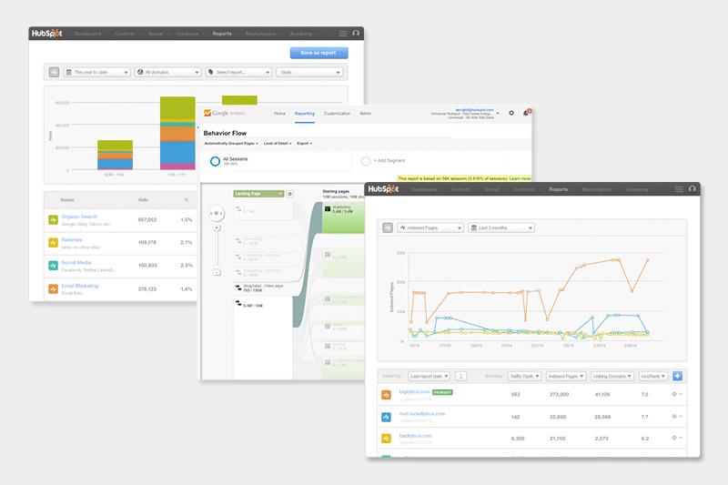 user paths at HubSpot homepage