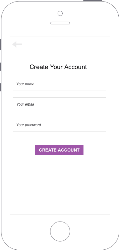 new account creation UX
