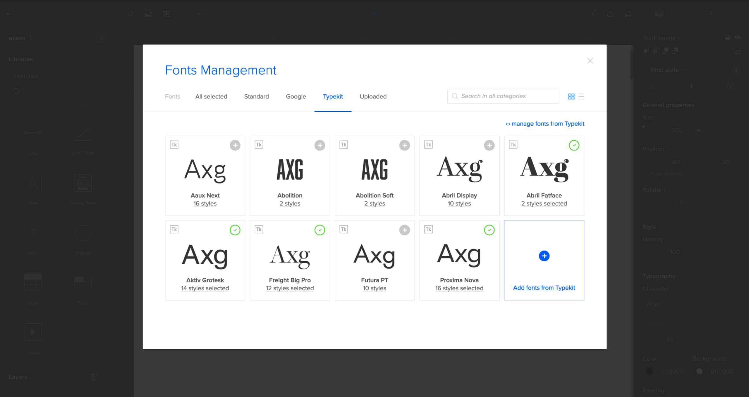 Choosing Typekit fonts