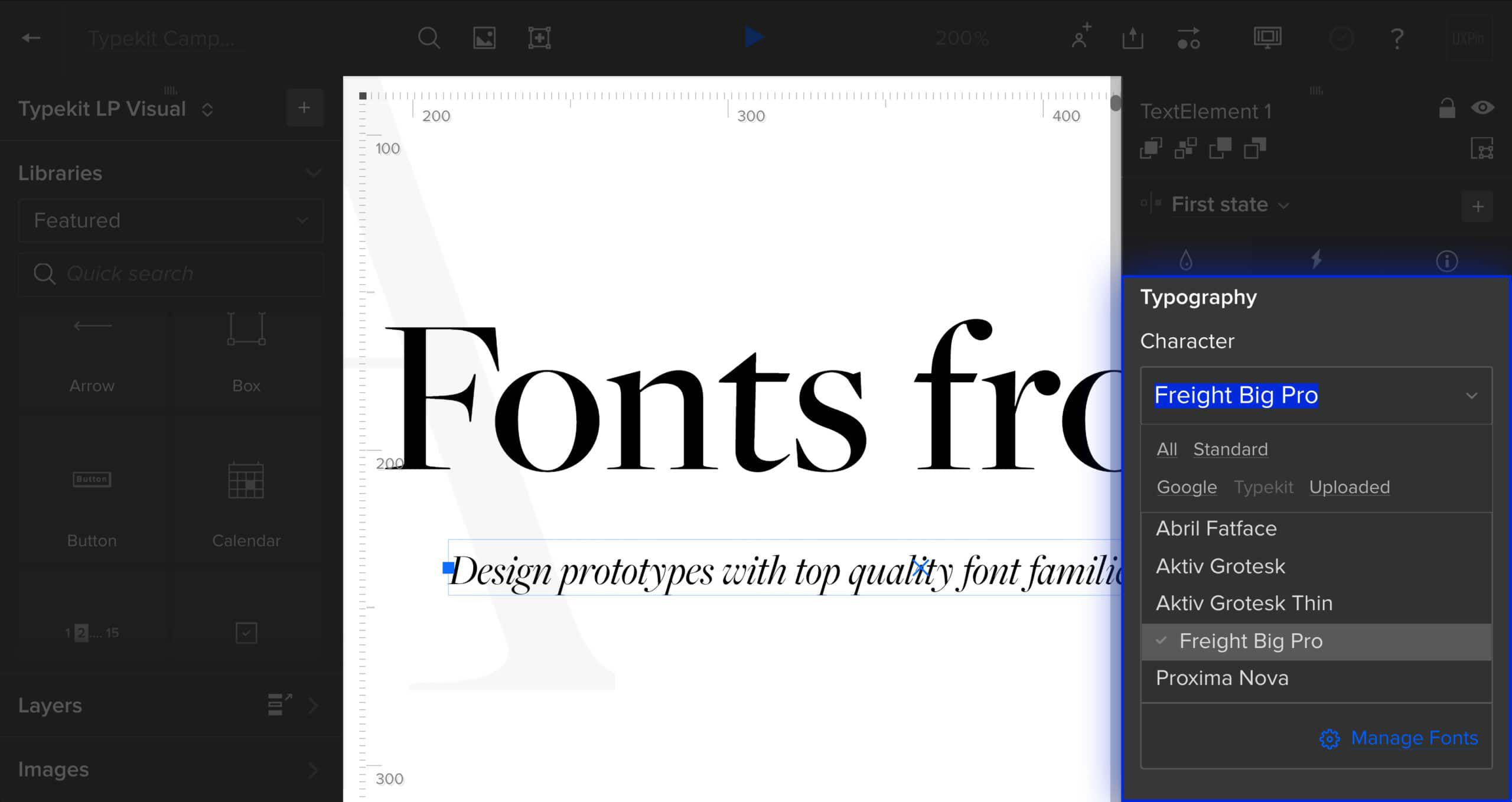 Using Typekit fonts in UXPin