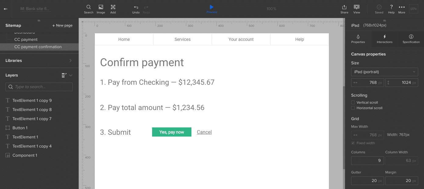 Bank confirmation