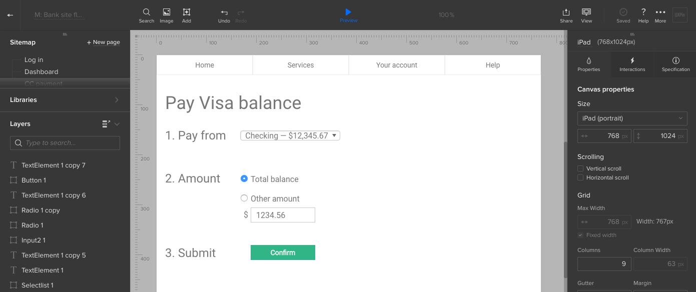 Bank pay balance