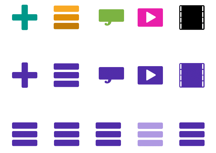 Color schemes for icons