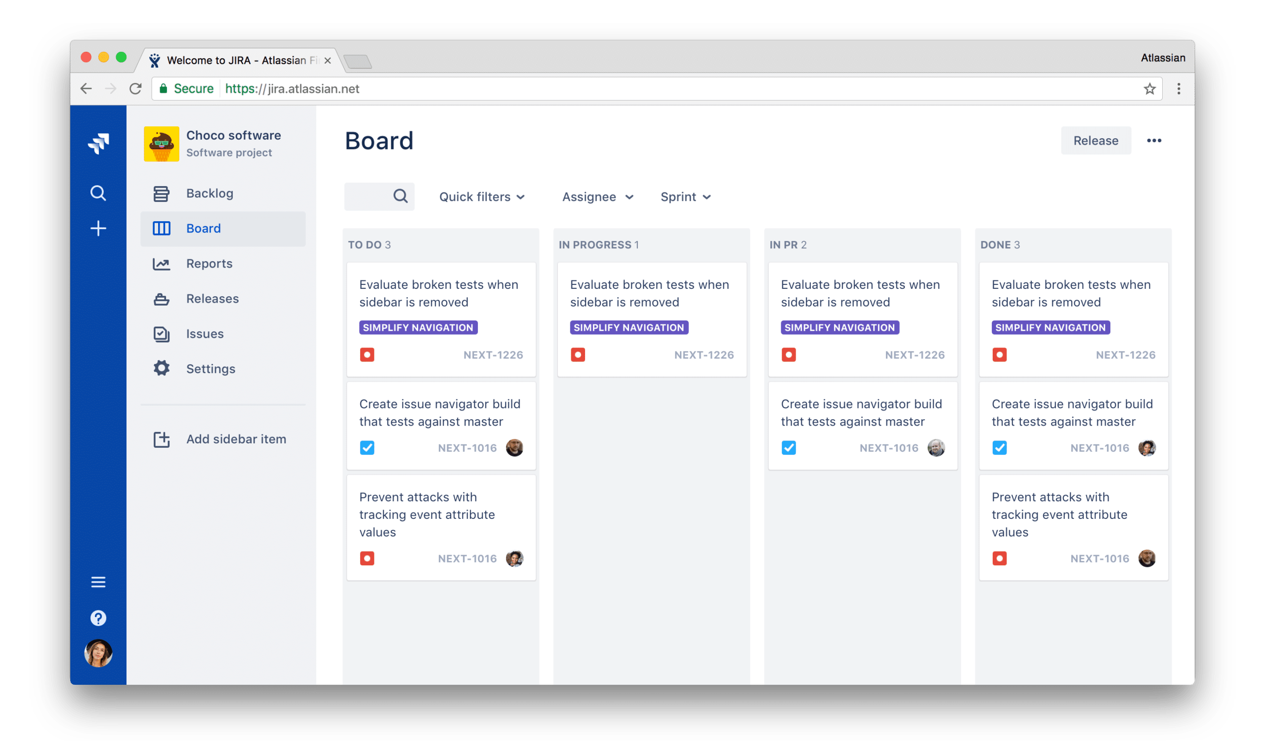 JIRA using ADG 3.0, the latest version of the design system