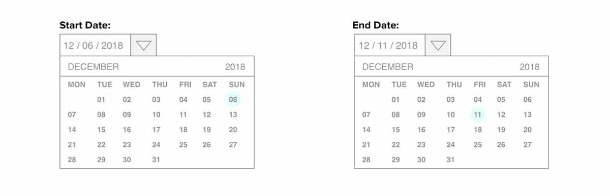 Datepicker template UXPin - UXPin for UX Designers
