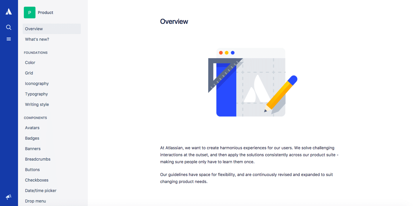 Atlassian Design System Product guidelines