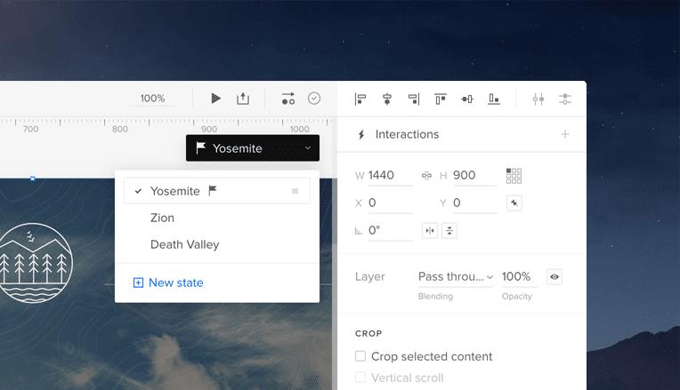 drop down menu design with states
