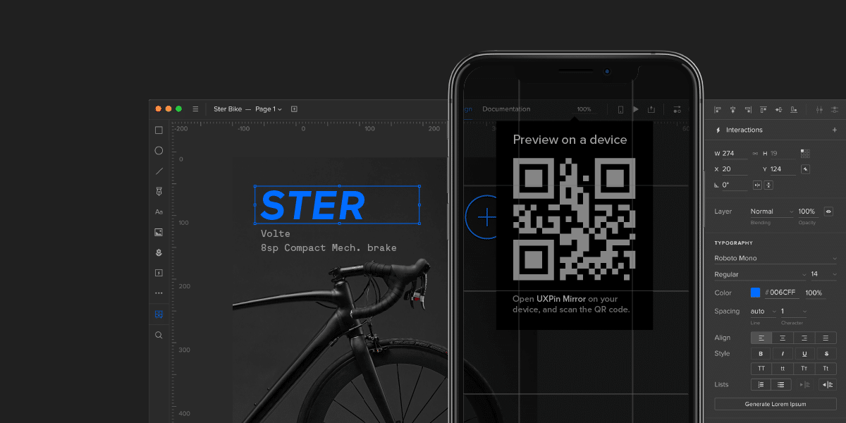 UXPin Mirror - preview prototypes on mobile