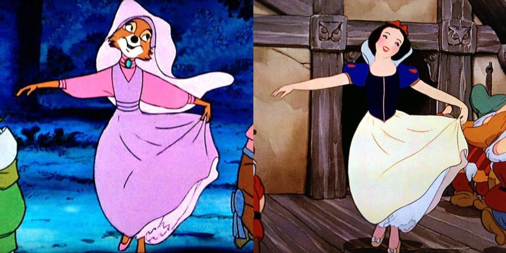 Maid Marian and Snow White