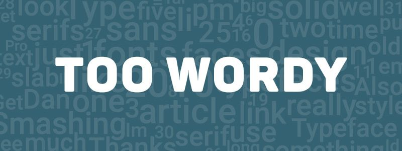 Design Rules - too wordy