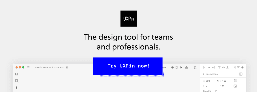 Sign up for UXPin free trial