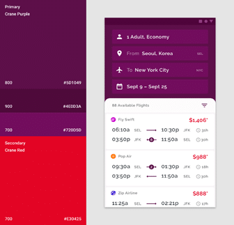 Good use of colors in UI