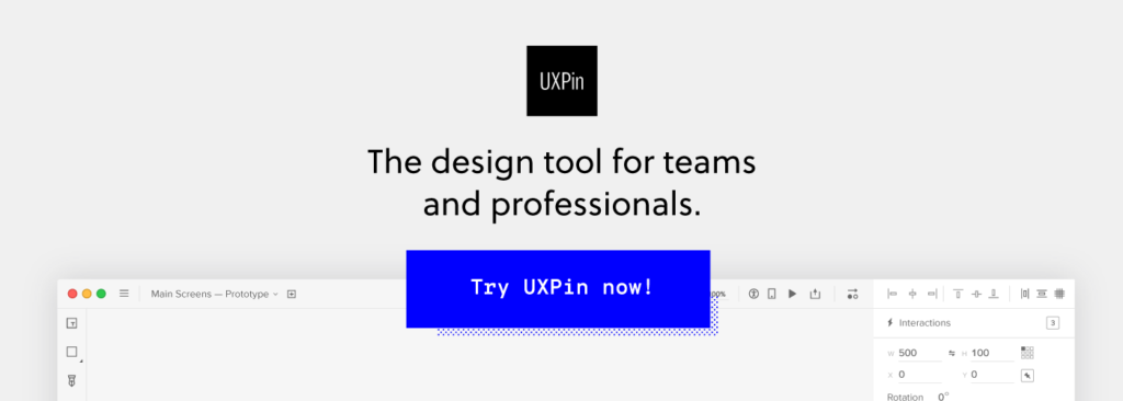 UXPin collaborative design and prototyping tool