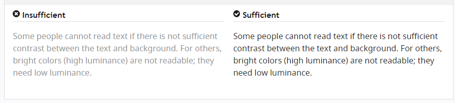 Color contrast - web accessibility
