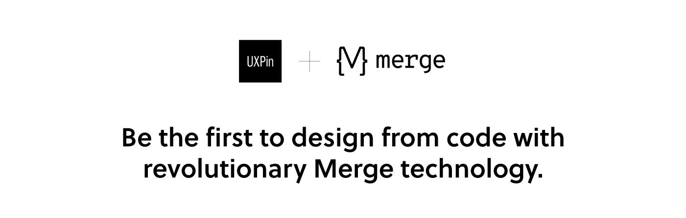 Design with Code: UXPin Merge Tutorial